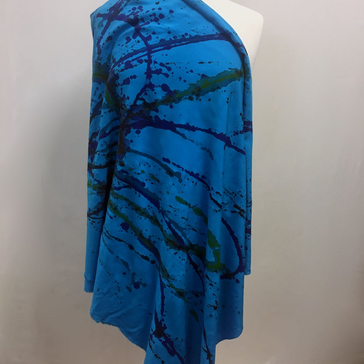 Image of Sustainable Rayon Fabric - Hand-Painted with Non-toxic Paints