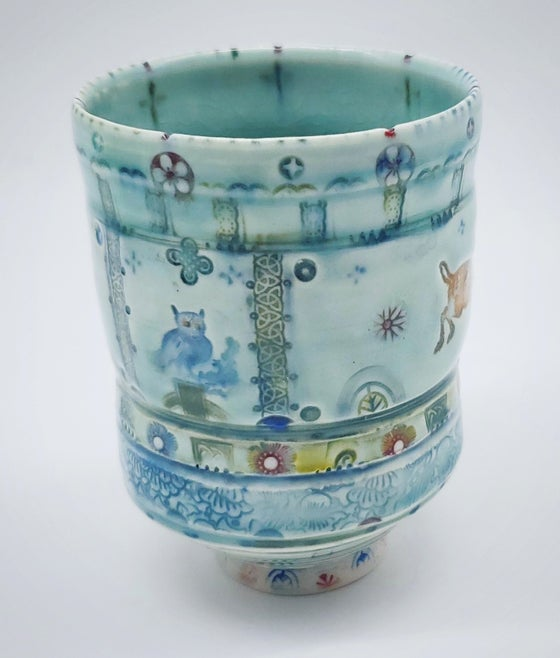 Image of Owl and Stag Tea Tumbler