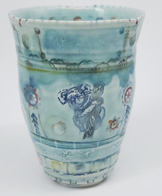 Image of Koala, Sphinx Moth, and Parrot Tea Tumbler