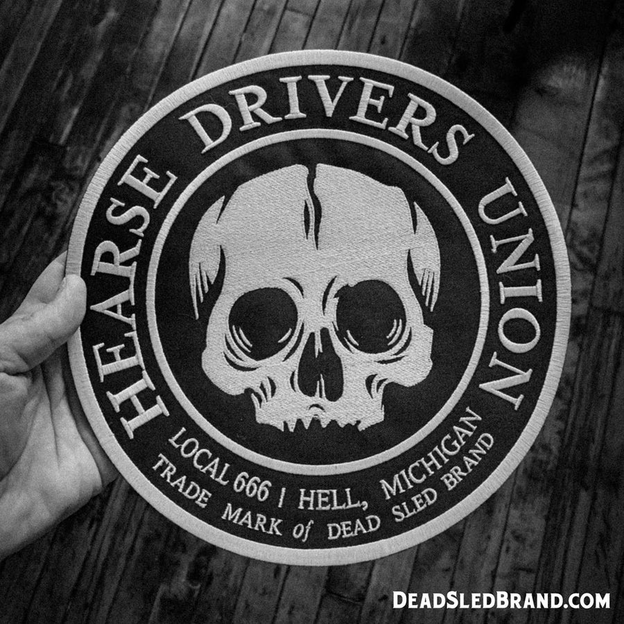 Image of Hearse Drivers Union 10-Inch Embroidered Patch