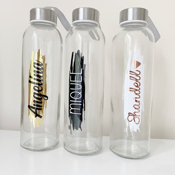 Image of PERSONALISED GLASS WATER BOTTLE