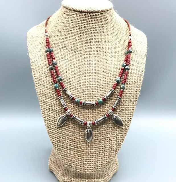 Image of Red Lotus Necklace