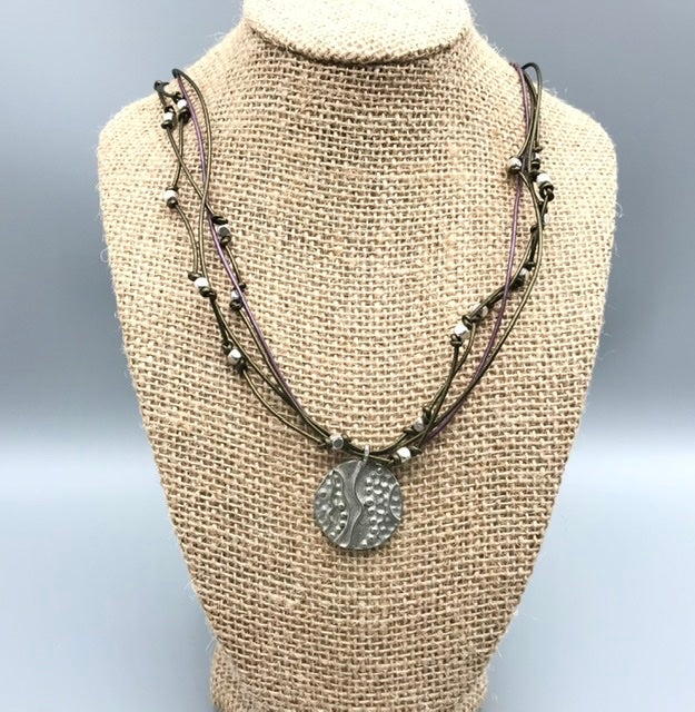 Image of Wavy Dot Necklace