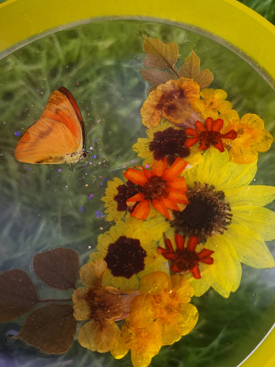"""Image of 7"""" Yellow Butterfly Moon Multifunctional Tray"""
