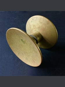 "Image of 6"" Circular Push-Pull Door Handles in Bronze, French"