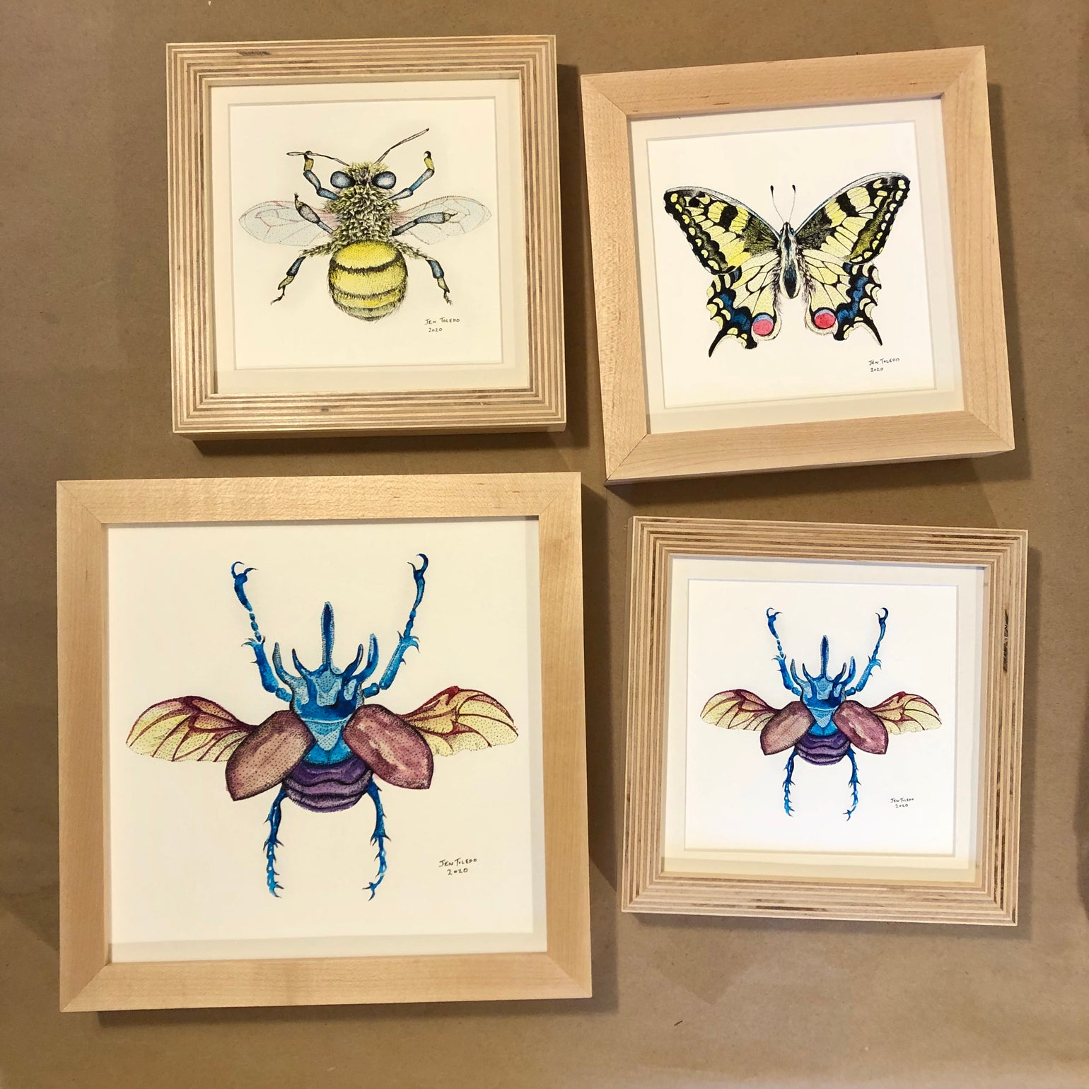 Image of Small Framed Bug Prints