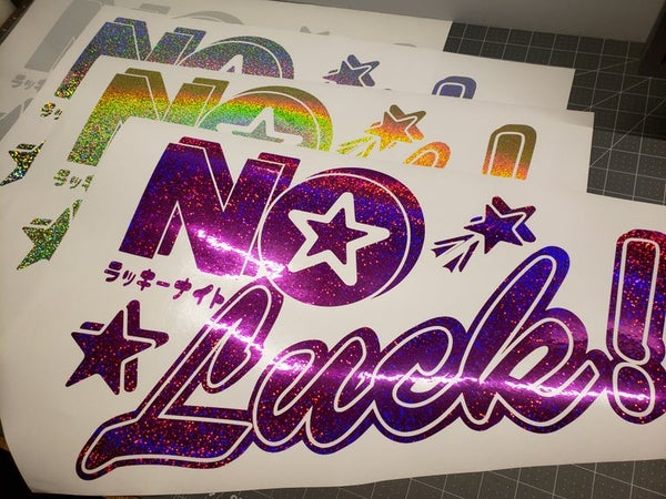 Image of NO Luck! Rear Window Banner