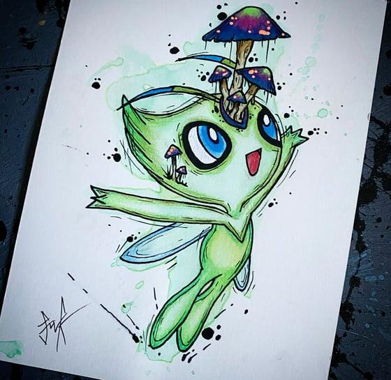 Image of Original Pokémon water colour- Celebi
