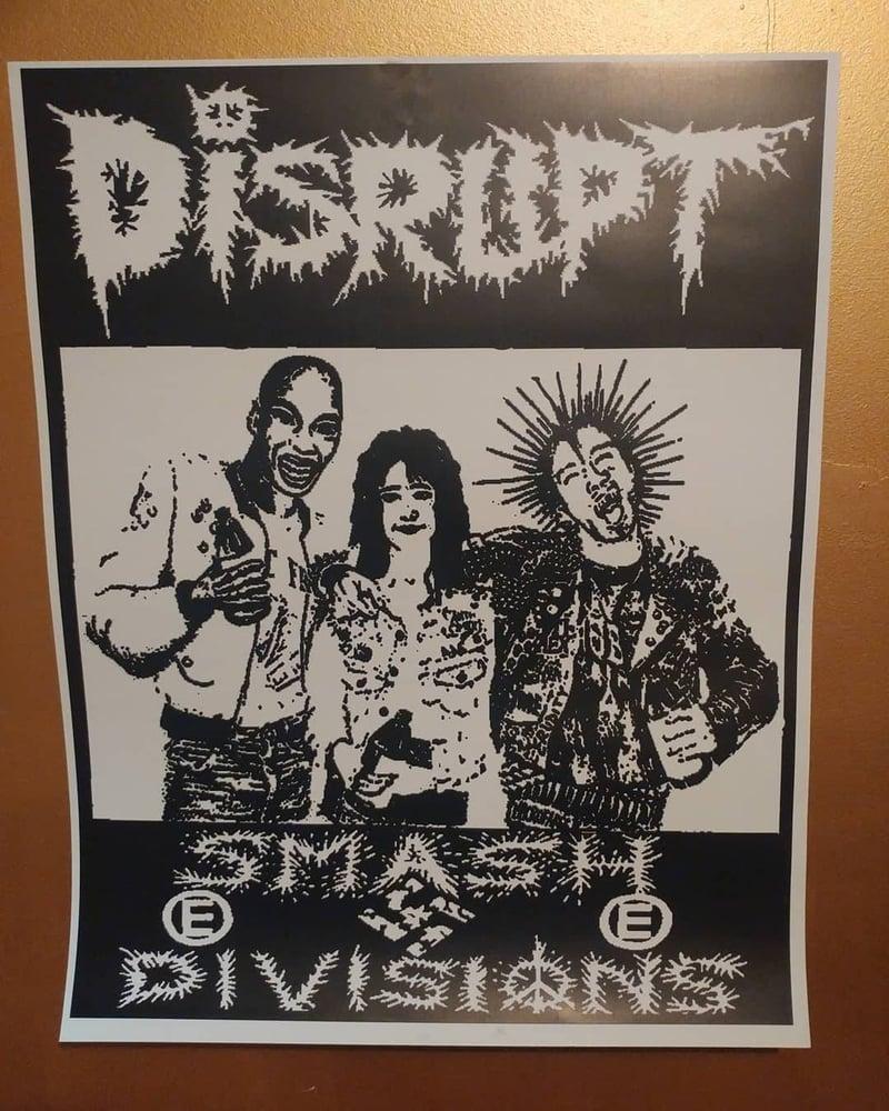 Image of Disrupt smash divisions punk poster 22x28