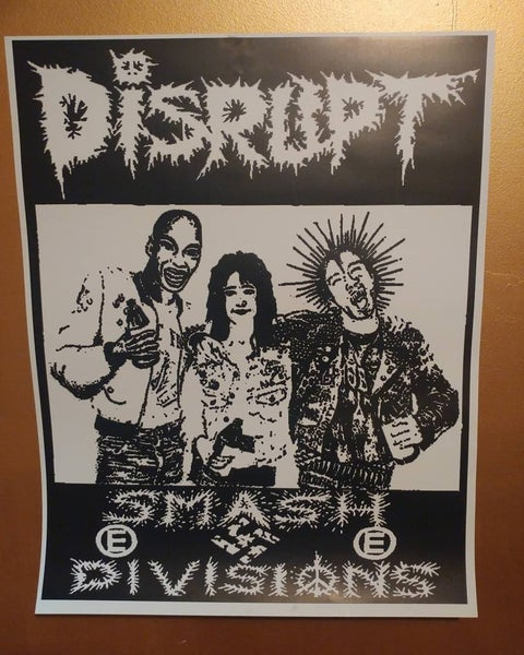 Image of Disrupt smash divisions punk poster 22x28