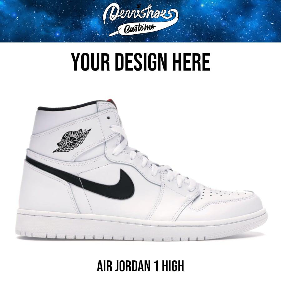Custom Hand Painted Made To Order Nike Air Jordan 1 AJ1 High Shoes (Men/Women)