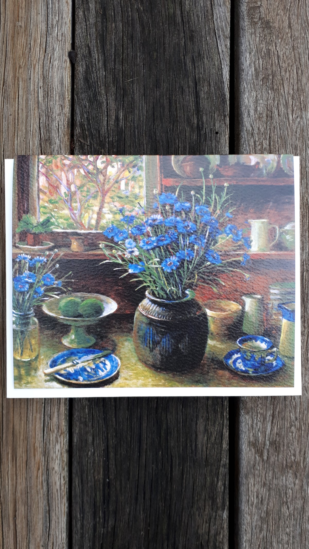 Image of Margaret Olley blank card - Cornflowers