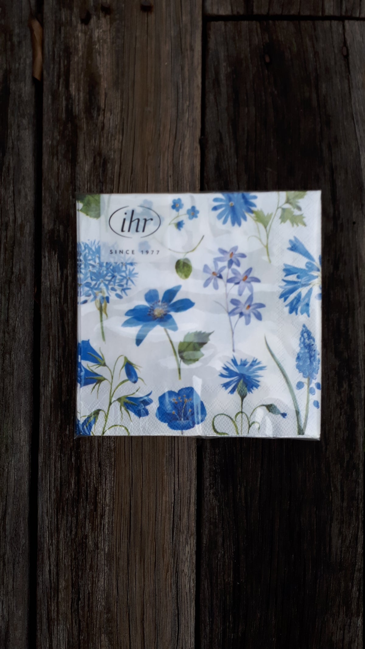Image of Cocktail Serviettes - Blue Meadow Flowers