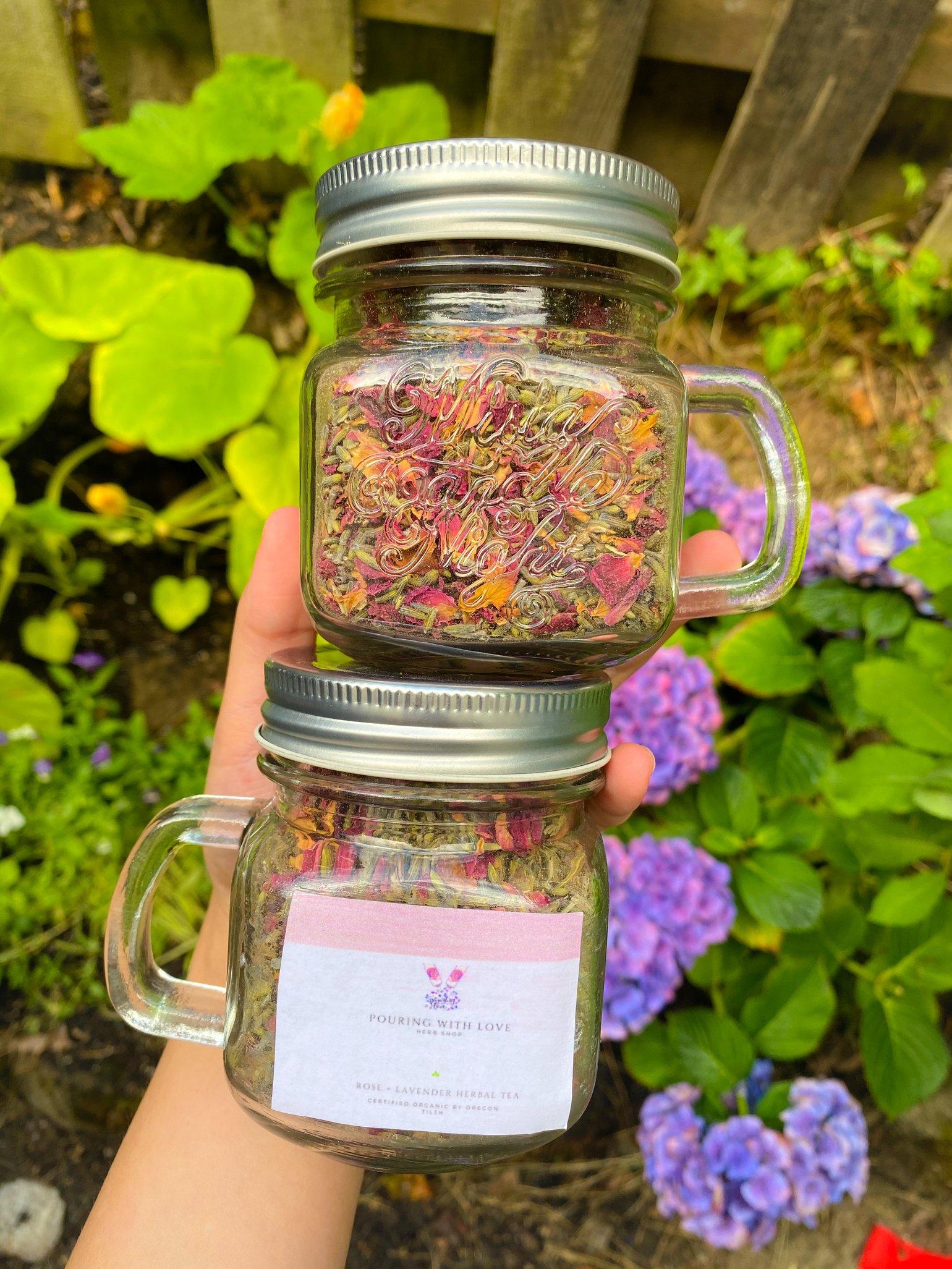 Image of rose + lavender herbal tea