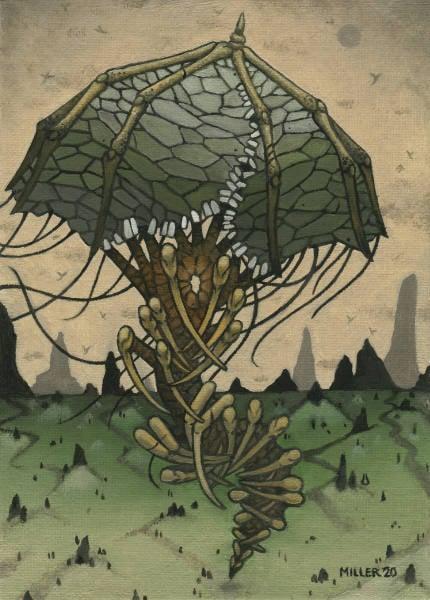 Image of Parasoul - Framed Original Oil