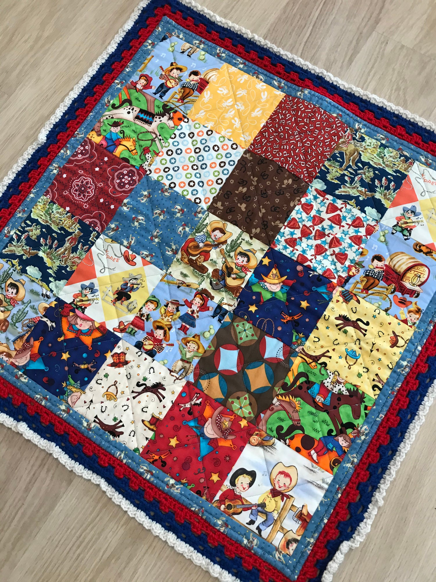 Image of I want to be a Cowboy Quilt