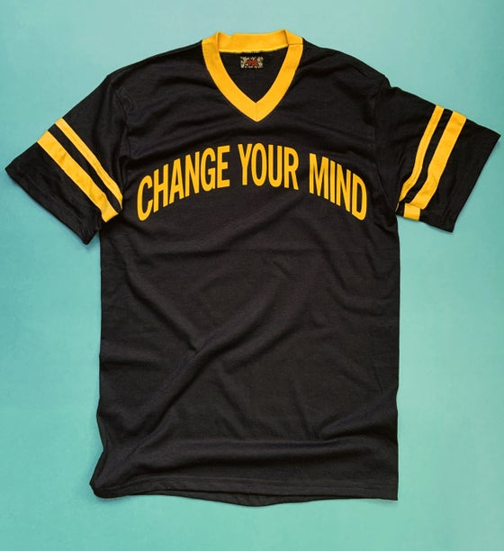 Image of Flocked Change Your Mind Tee - Unisex