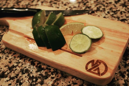 """Image of Nick Diaz - 13"""" Cutting Board With Knife Slot"""