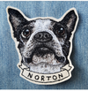 [SINGLE]: Custom Embroidered Pet Portrait Patch/Brooch