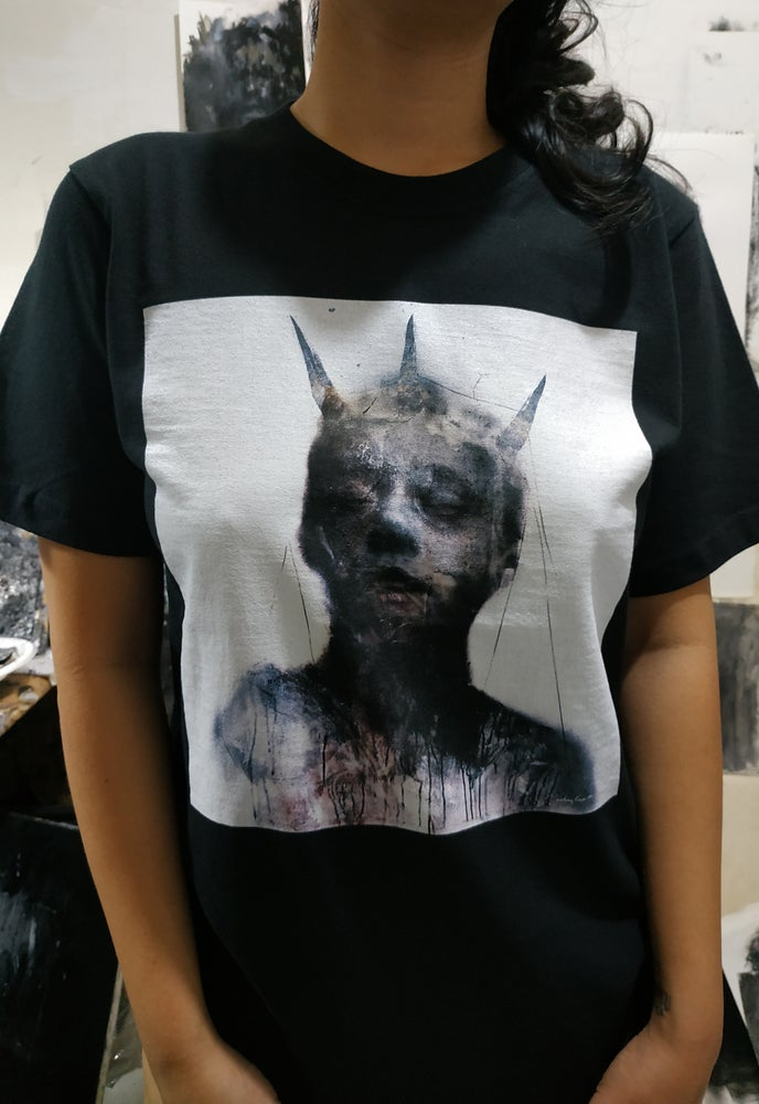 """Image of """"Three Horned Figure"""" t-shirt edition"""