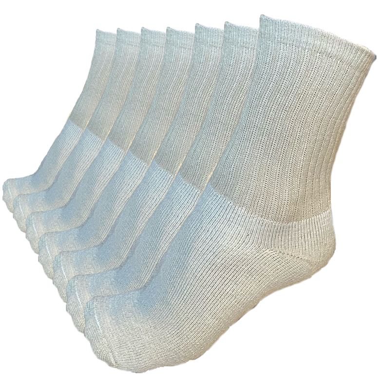 Image of Crew Socks, Unbleached, Organic Cotton, 7 Pairs