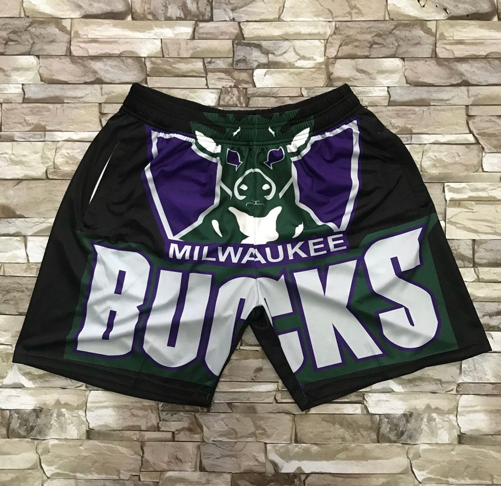 Image of Milwaukee bucks print style shorts