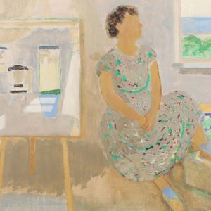 Image of 1949, Swedish Oil Painting,'The Artists Studio in Summer,' Tor Hörlin (1899 - 1995)