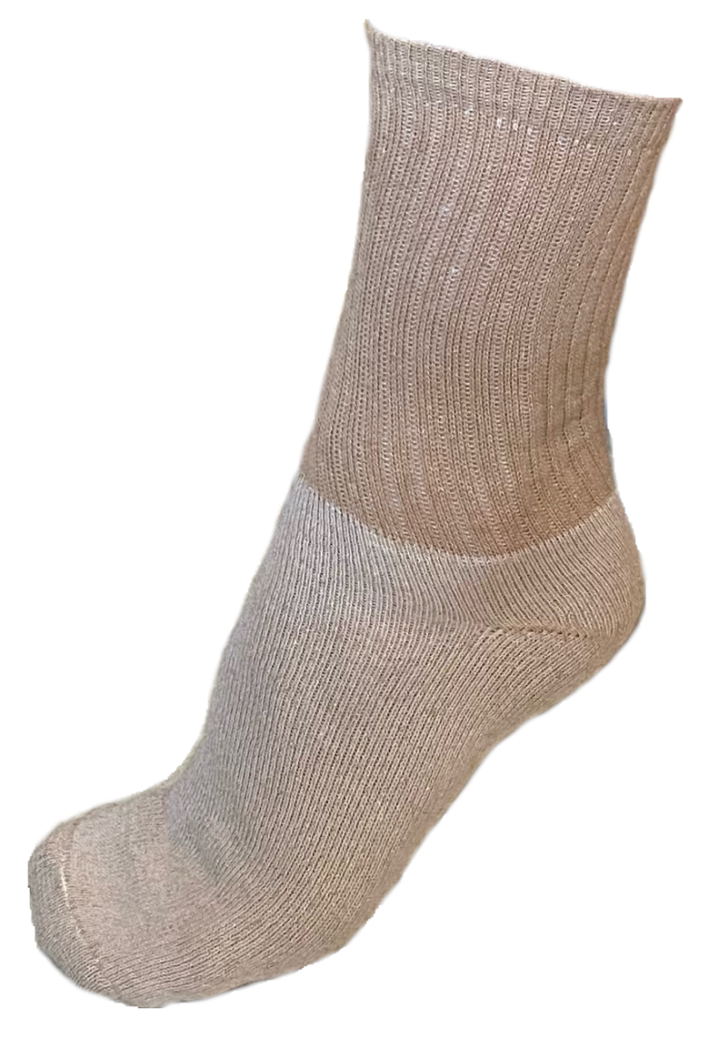 Image of Crew Socks, Organic Cotton Brown, 1 Pair