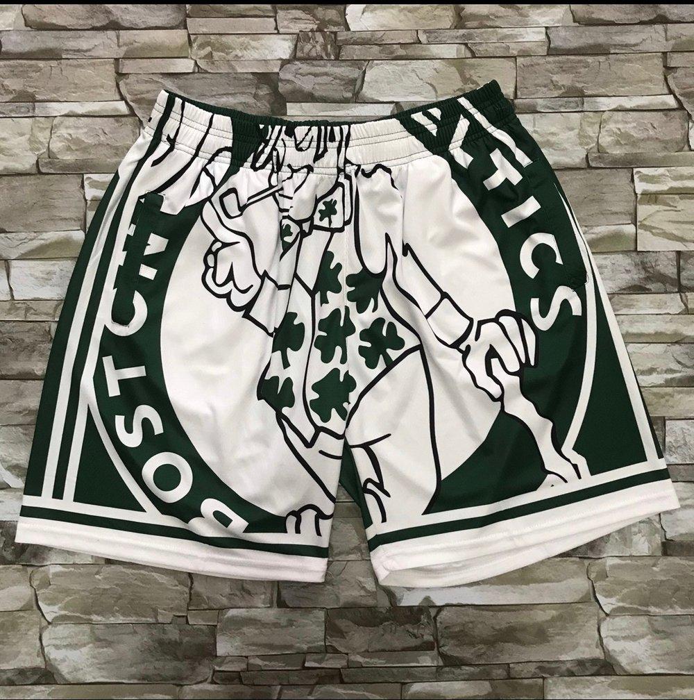 Image of Celtics print style shorts