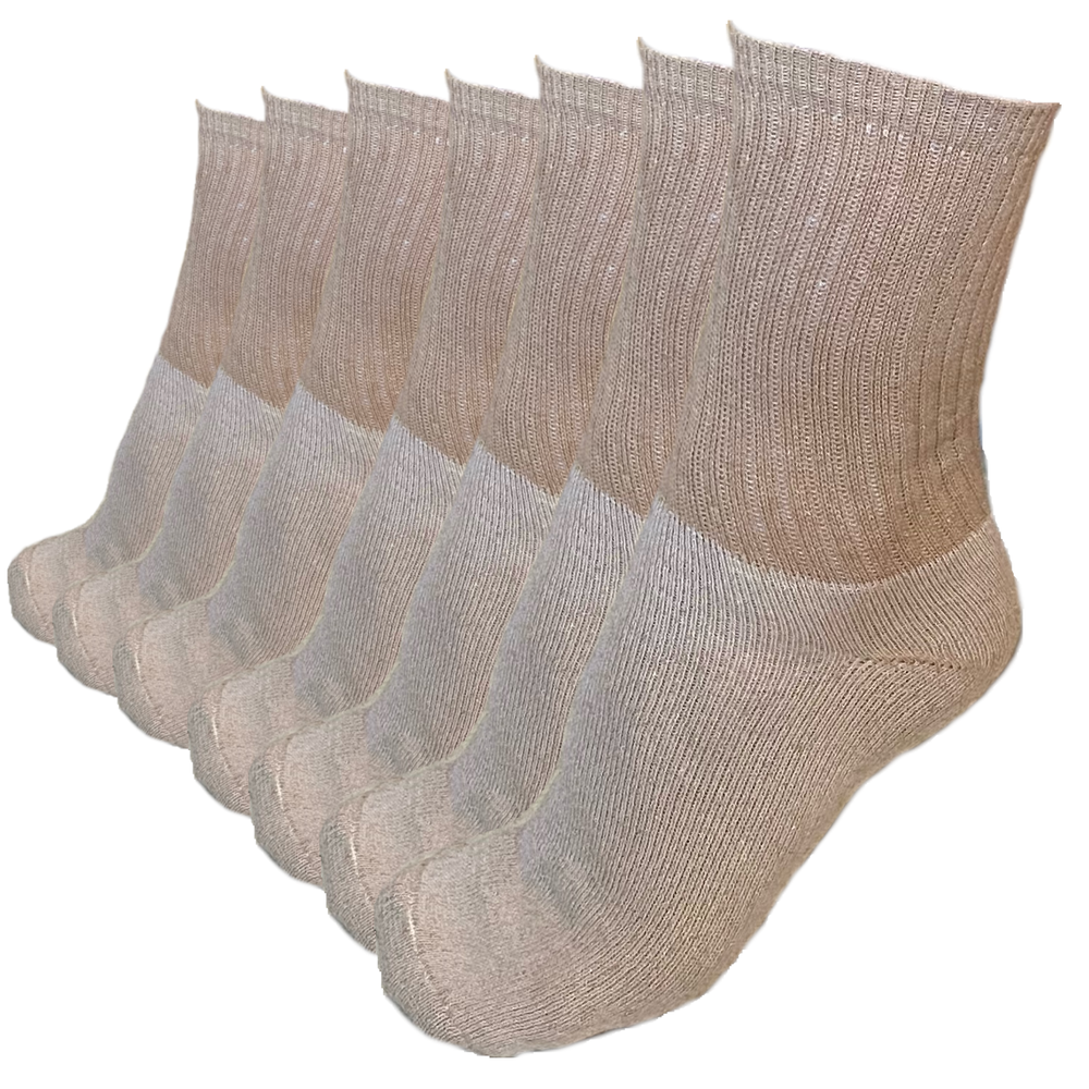 Image of Crew Socks, Organic Cotton Brown, 7 pairs