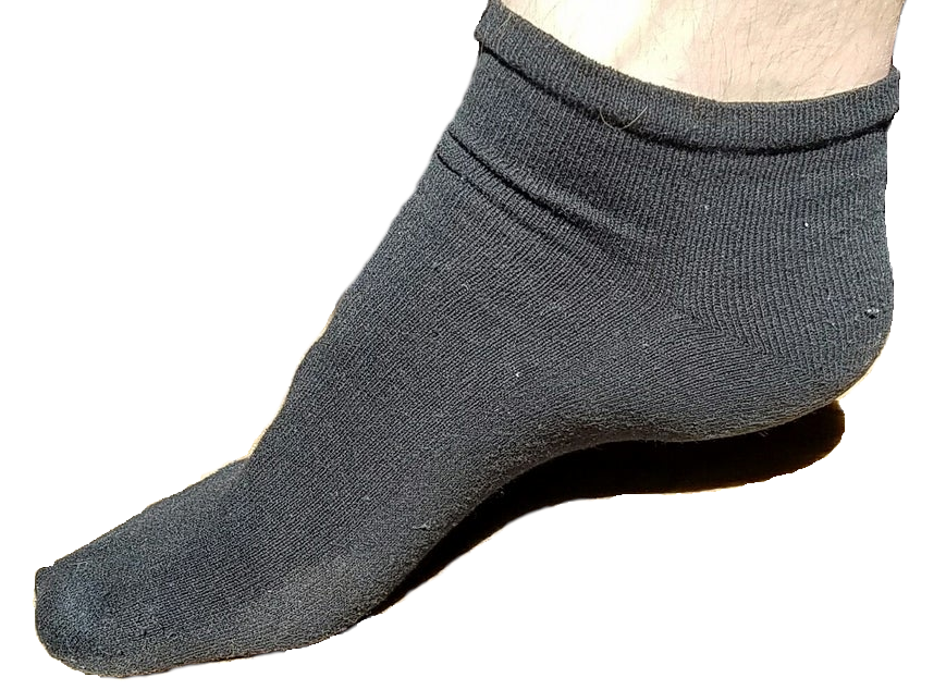 Image of Ankle Socks, 1 Pair, Recycled Black (Close Out Sale)