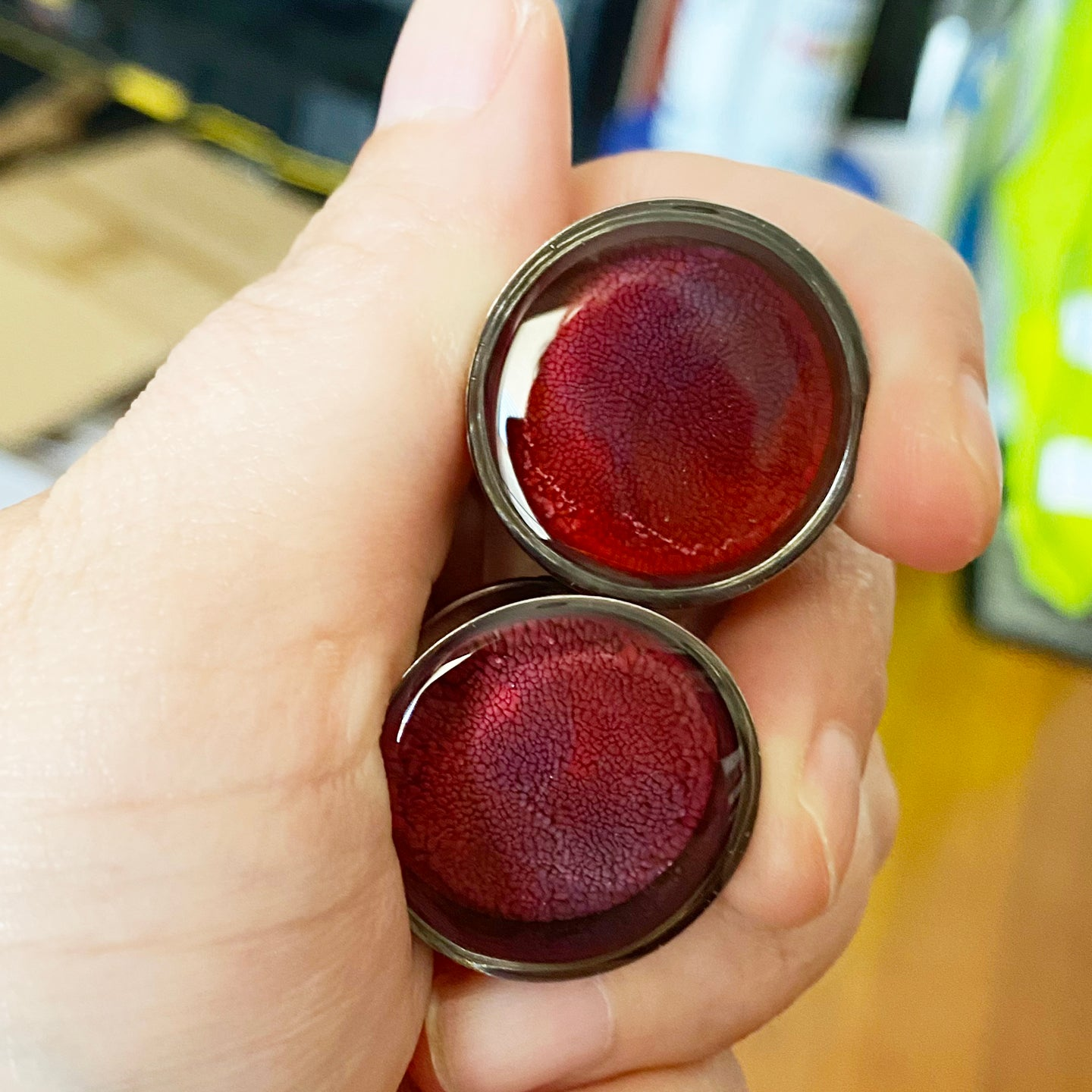 Image of 7/8 Red/Purple Inky Plugs