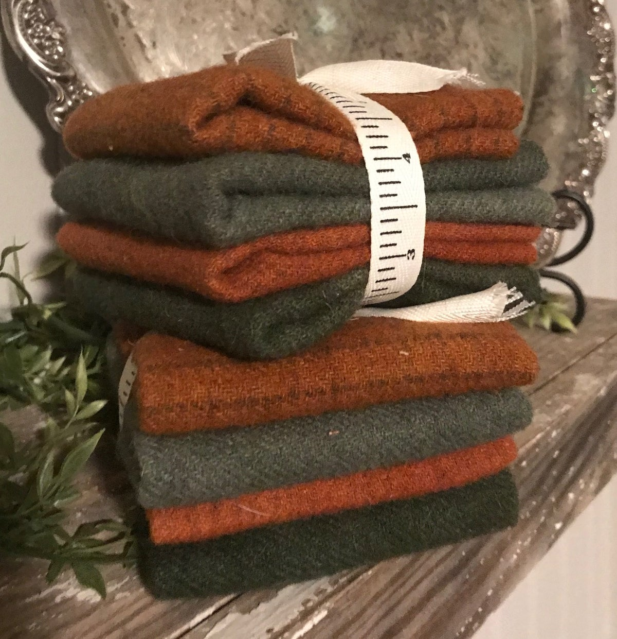 Wool Bundles- Pumpkin & Spruce