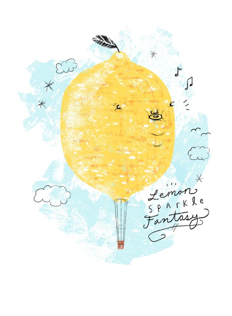Image of Lemon Sparkle Balloon Print