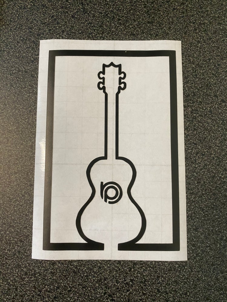 Image of Square Collection BP Ukulele Vinyl Decal
