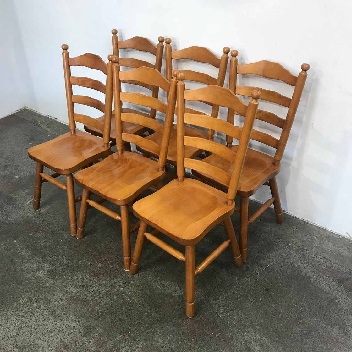 Image of SOLID PINE TABLE & CHAIRS