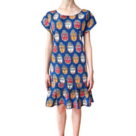 Image of Ruffles Multicolore Buddha Dress