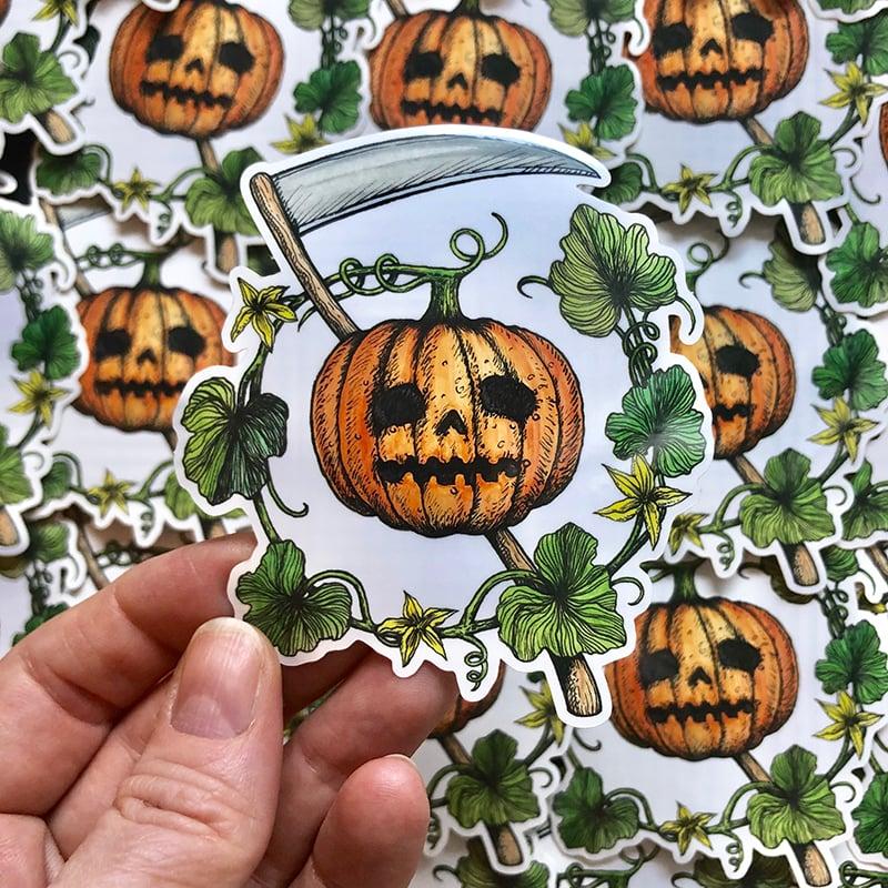 Image of Jack-o'-lantern Sticker