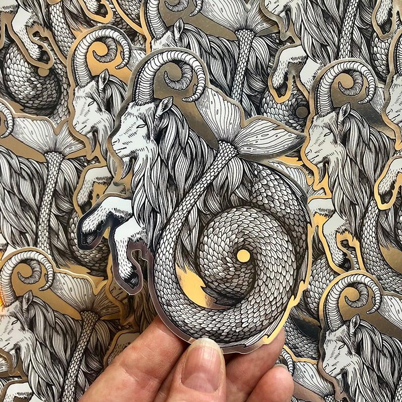 Image of Capricorn Mirrored Sticker