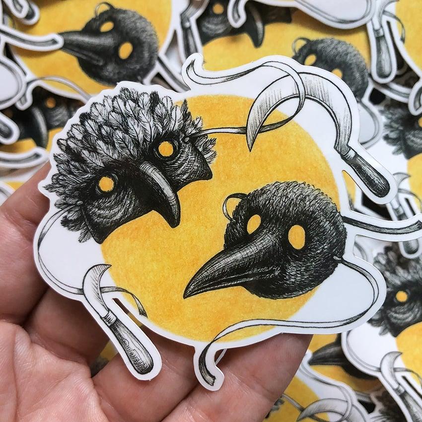 Image of Bird Masks Sticker