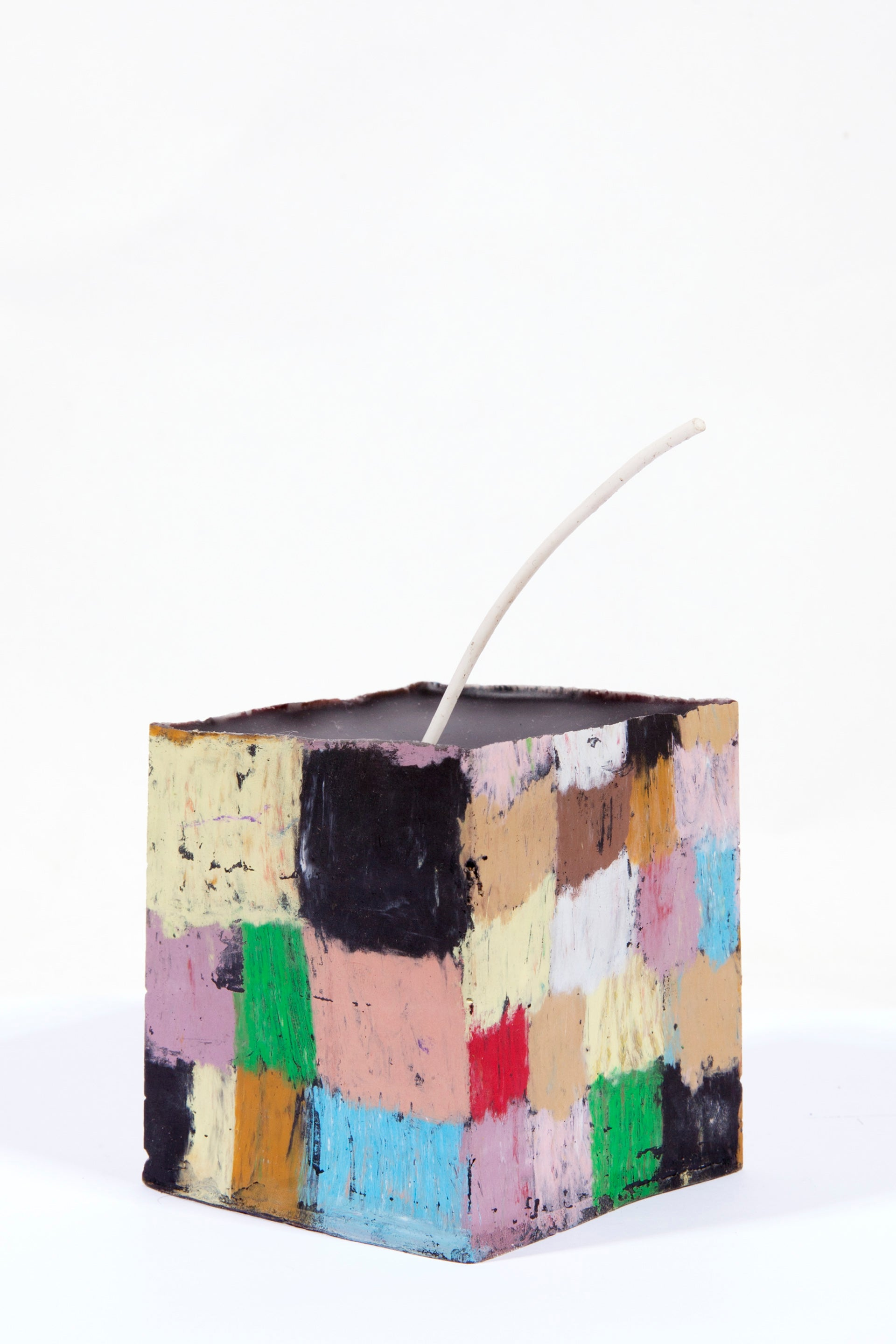 Image of Large Square Stack in sienna, lilac, deep red, baby blue, black, lilac, pink, green and soft yellow