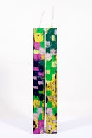 Image 2 of Extra Tall Tower Pair in forest green, yellow, neon green, pink, magenta and navy