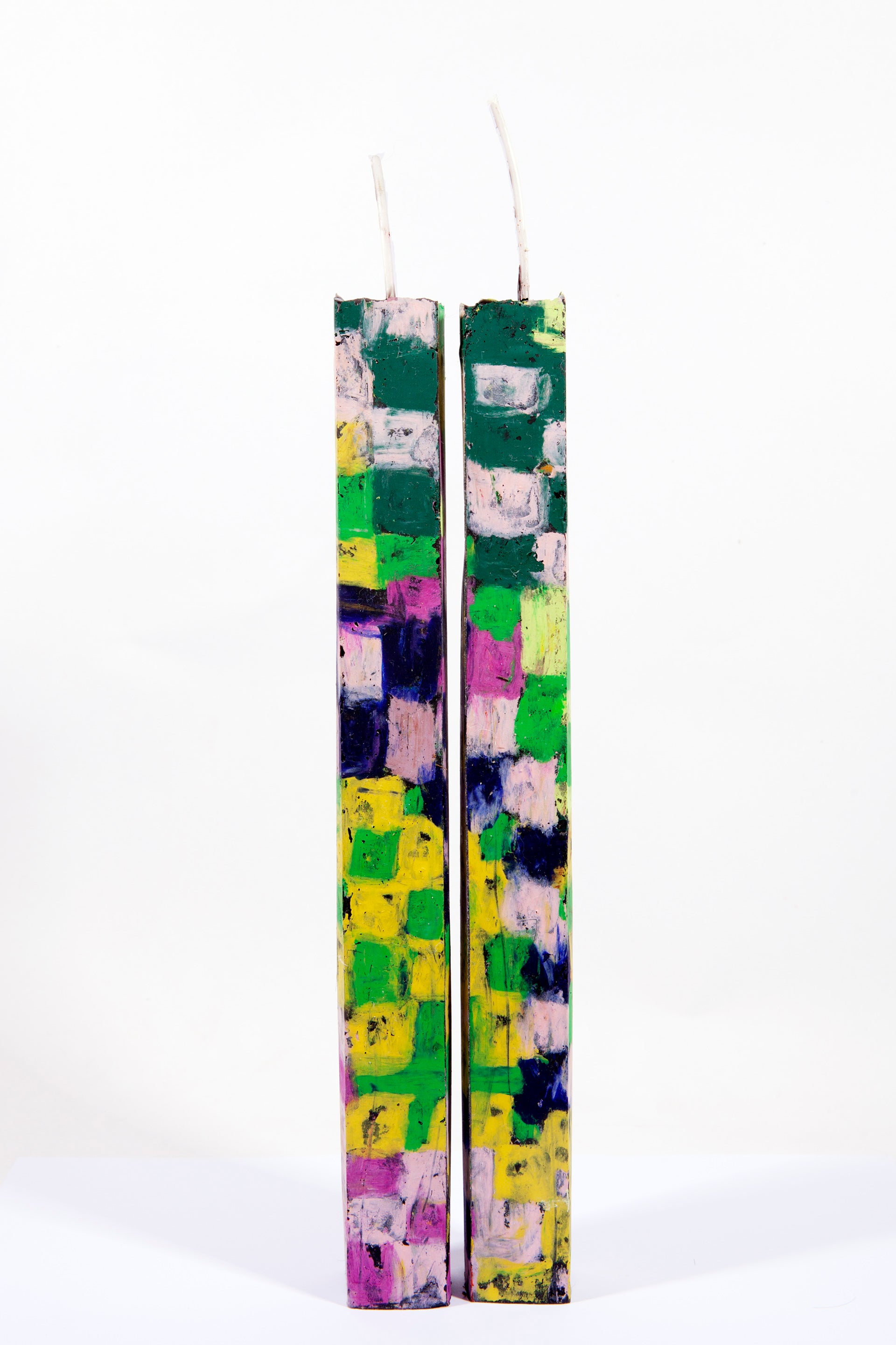 Image of Extra Tall Tower Pair in forest green, yellow, neon green, pink, magenta and navy