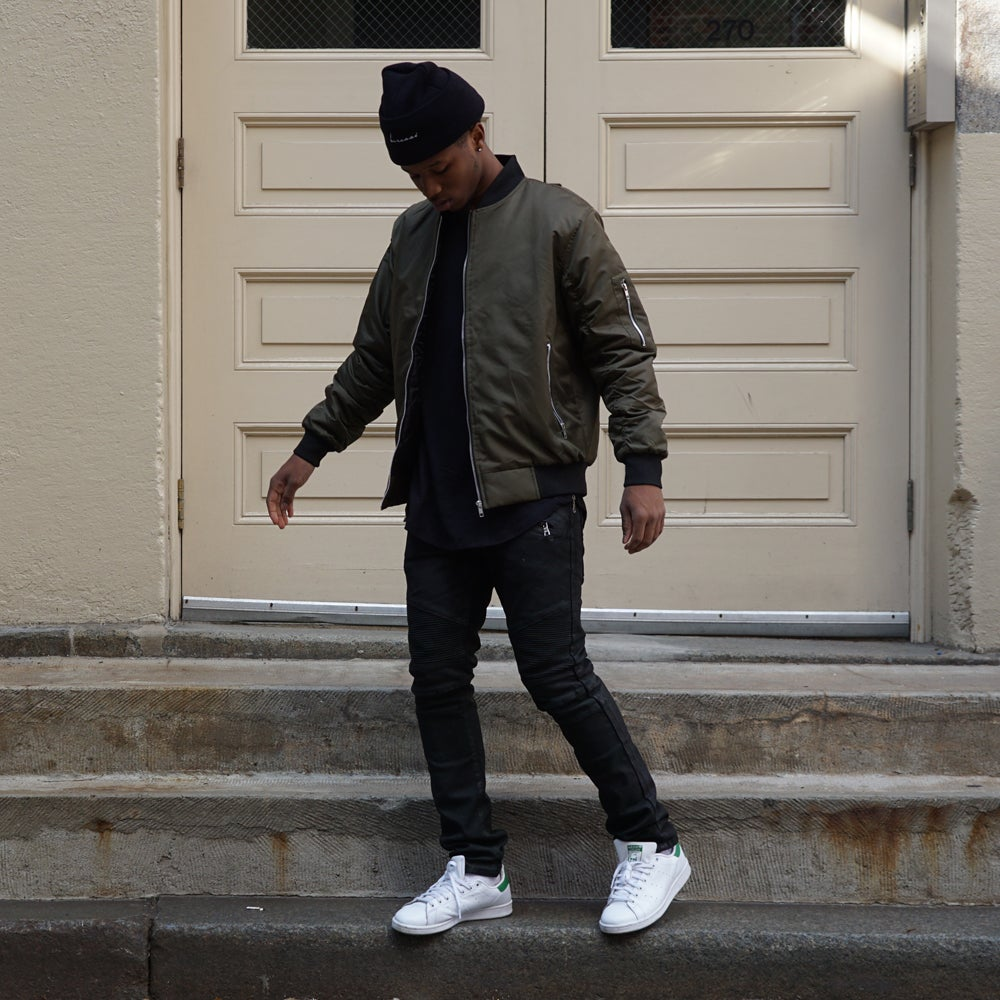 Image of Bomber Jacket (Olive)