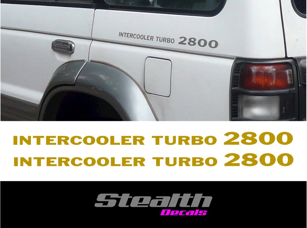 Image of Mitsubishi Shogun pajero Intercooler turbo 2800 side decals