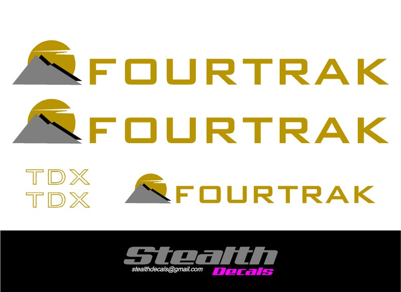 Image of DAIHATSU Fourtrak TDX sticker set.