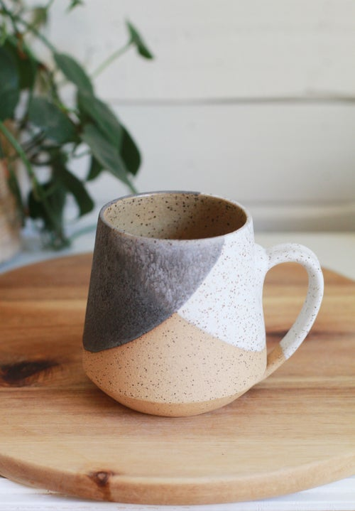 Image of Speckled White & Charcoal Mug