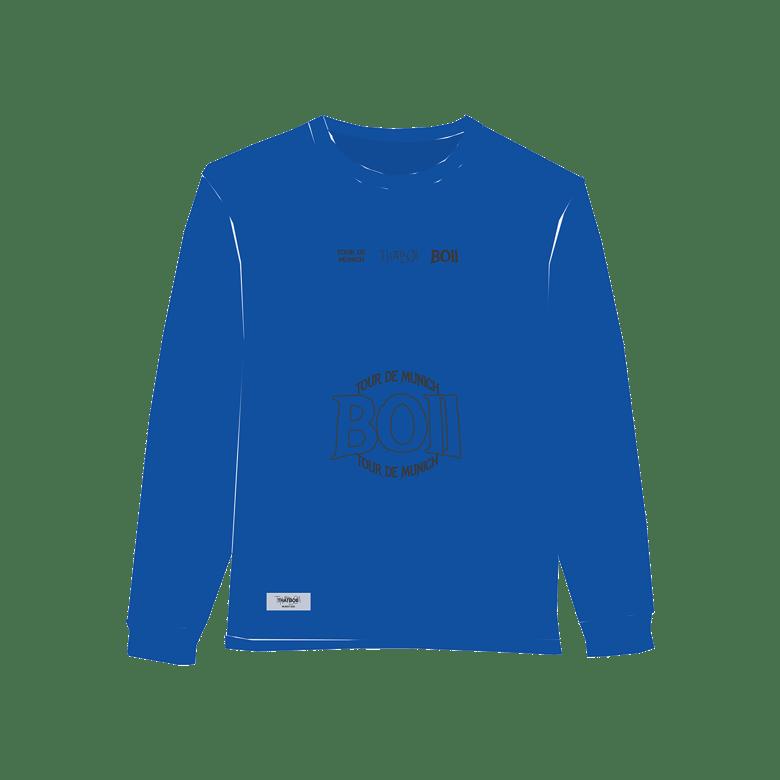 Image of THATBOII tour de munich long sleeve - blue