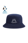 Navy Blue OBSC Embroidered Corduroy Bucket Hat by Booby Buckets