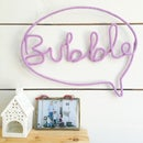 Image 1 of Bubble knitted wire word